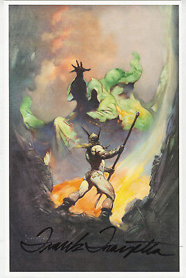 Frank Frazetta signed autographed The Norseman poster art print