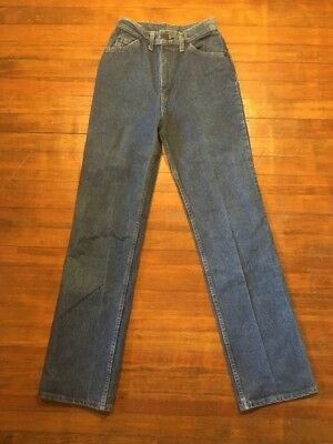 Vintage Levis California Straights 27x33 1970s Orange Tab 242 Girl Denim Jeans