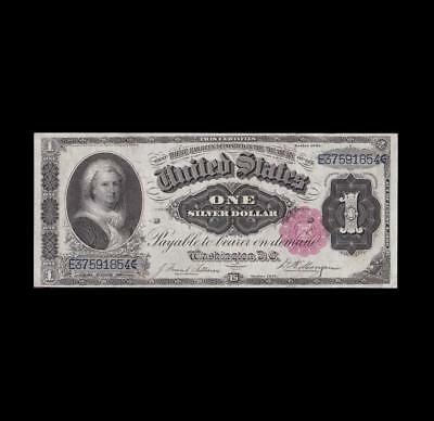 Key 1891 $1 Silver Certificate Martha Strong Extra Fine