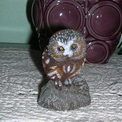 1980 Charles Earnhardt Saw Whet Owl Figurine  from Bronze Wildlife Collection