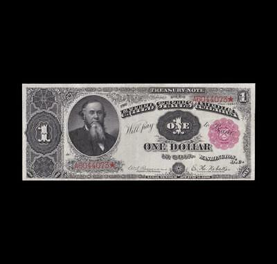 Extremely Rare 1890 $1 Treasury Note Strong Extra Fine