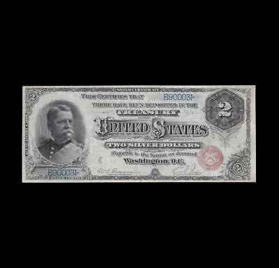 1886 $2 Silver Certificate Hancock Strong Extra Fine
