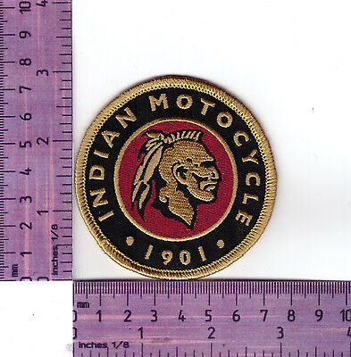 Indian Motocycle Since 1901 Motorcycle  Rnd Embroidered Badge / Cloth Patch