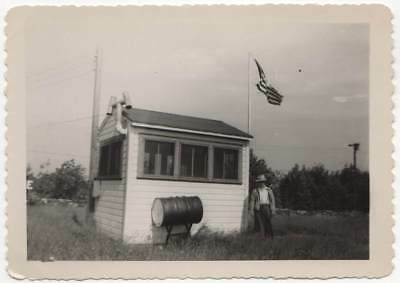 WW2 OBSERVATION POST OXFORD CONN.  OLD/VINTAGE PHOTO-SNAPSHOT-x2388