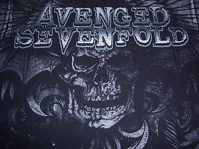 2011 licensed AVENGED SEVENFOLD t shirt-NIGHTMARE-full SCAREY SKULL art-(L)