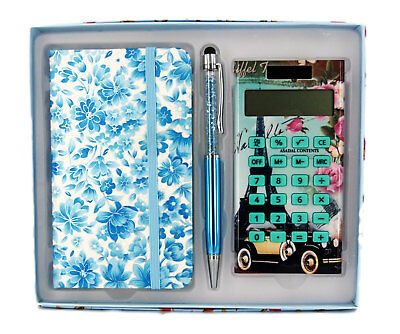 Gift Boxed Set-Notebook, Stylus Pen & Calculator-Ideal Gift-AU Seller
