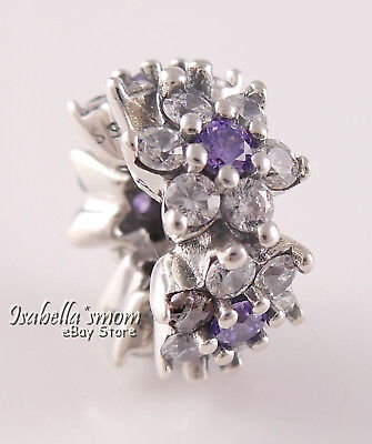 1d0f0a083 FORGET ME NOT Authentic PANDORA Purple FLORAL Spacer 791834ACZ NEW w POUCH!
