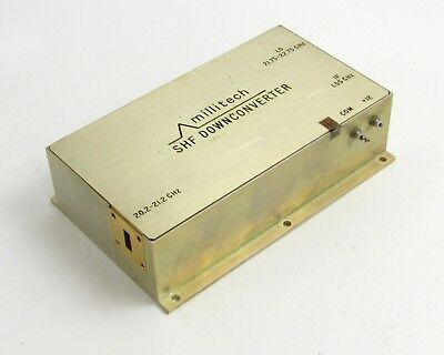 Millitech SHF Downconverter, LO 21.75-22.75 GHz, IF 1.55 GHz, Wave 20.2-21.2 GHz