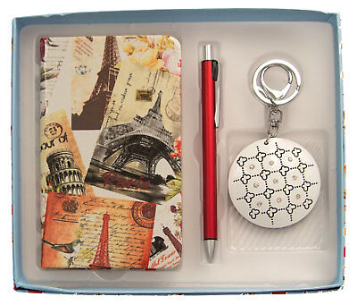 Gift Boxed Set-Notebook, Pen & Keyring-Ideal Gift-AU Seller