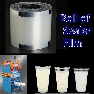 US 1900 Cups 95-150mm Cup Sealer Film Clear Boba Bubble Tea Milk Sealing PP Roll