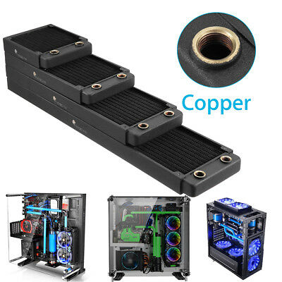 Copper Computer PC Water Cooling Radiator Heatsink Cooler 120/240/360/480mm