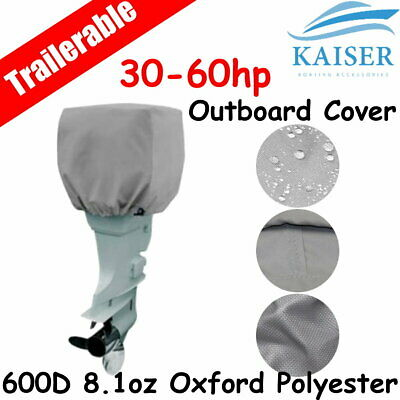 30-60hp Half Outboard Boat Motor Engine Cover Dust Rain Protection Grey