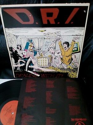 "D.R.I. LP -""DEALING WITH IT"" 1985/ 72069-1 Death Records 3/ Enigma Records"