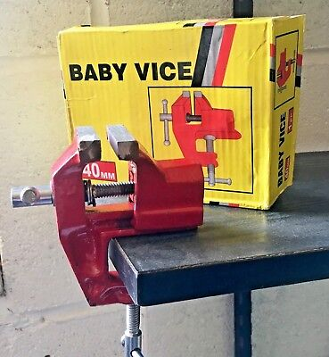 40Mm Baby Vice Small Clamp Bench Table Top Woodwork Hobby Model Making Tool Diy