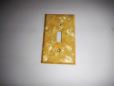 Vintage Formica  Light Switch Cover ~ Primrose Pearl ~  Iridescent 1950's