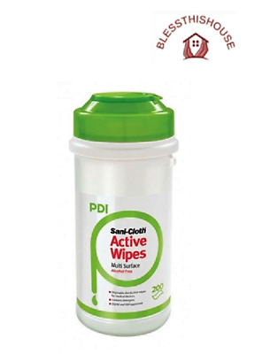 San-Cloth Active Alcohol Free Disinfectant Wipes Tub 200 - Pdi Nhs Grade! 2Clear
