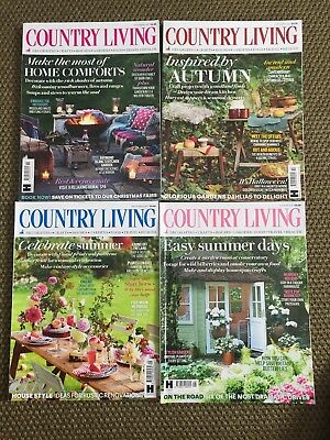 Country Living Magazine August, September, October, November 2017 4 Issues
