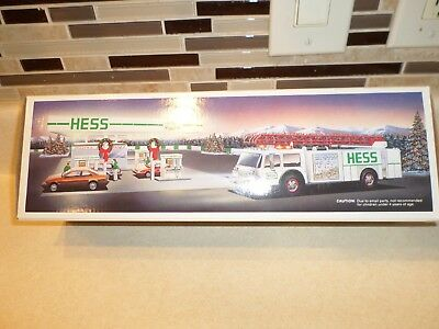 1989 Hess Fire Truck Brand New In Box Never Opened !!!