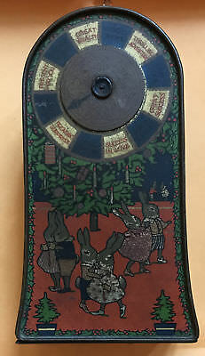 "WWI Jacob & Co Biscuits ""Lucky Wheel"" Fortune Telling Novelty Tin"