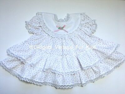 VTG Floral Ruffle Baby-Doll Girls Dress 12M