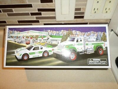 2011 Hess Toy Truck And Race Car Never Removed From Box Original !!!