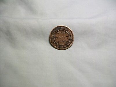 1859 Canada Large One Cent