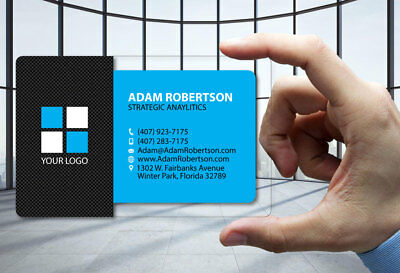Uber 50 business cards logo 1299 picclick 50 clear plastic business cards carbon fiber blue 30 mil thick free design colourmoves
