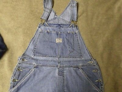 Women's Old Navy Blue Jean Bib Overalls Shorts ..... Size L