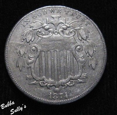 1874 Shield Nickel <> EXTREMELY FINE