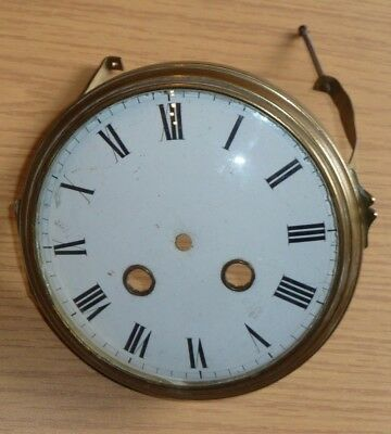 Vintage French clock dial & hinged glazed bezel c1900 for spares