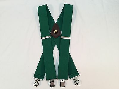 "New, Men's, Kelly Green, (John Deere green) XL, 2"", Adj.Suspenders / Braces, USA"
