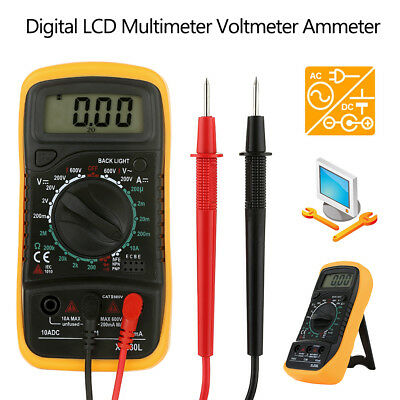 Electrical LCD Digital Multimeter Ohmmeter Multi OHM Tester AC DC Voltmeter UK
