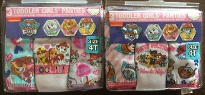 Toddler Girls Paw Patrol Lot of 6 Size 4T Panties