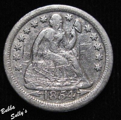 1854 O Seated Liberty Dime <> VF Details