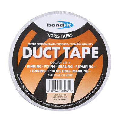 BOND IT TIGRIS DUCT TAPE WATER RESISTANT SILVER 48mm x 45M