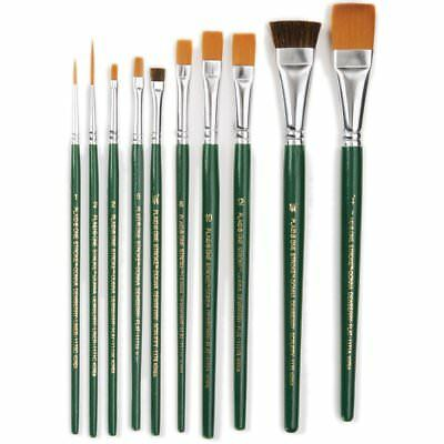 9155 Gold Taklon Value Pack Brush Set-10//Pkg