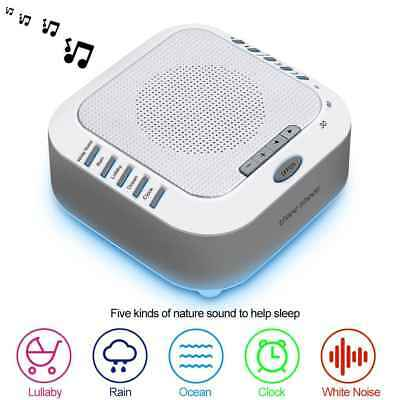 White Noise Machine Sound Machine Music Player with Night Light for Adults Kids