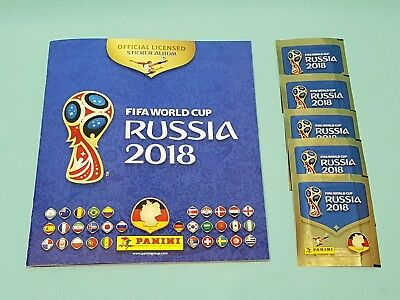 Panini WM 2018 Russia World Cup Sticker Sammelalbum + 5 Tüten  Album Leeralbum