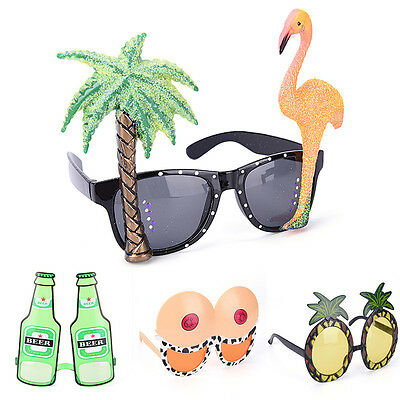 Funny Hawaiian Tropical Sunglasses Glasses Summer Fancy Dress Party Costume XBUK