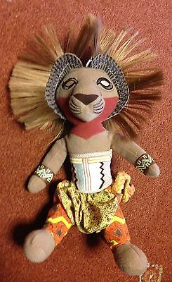 """DISNEY'S THE LION KING Musical Stage Show SIMBA Luxury Soft Toy 10"""""""