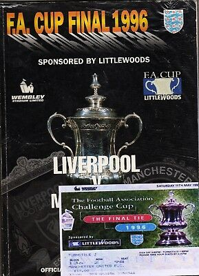 1998 FA Cup Final Liverpool v Manchester United programme/ticket