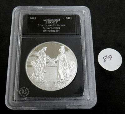 2015 Proof Liberty and Britannia Silver Crown