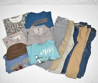 Boy's 3t Huge Lot Tea Collection Long Sleeve Tops Shirts Pants Lined Joggers