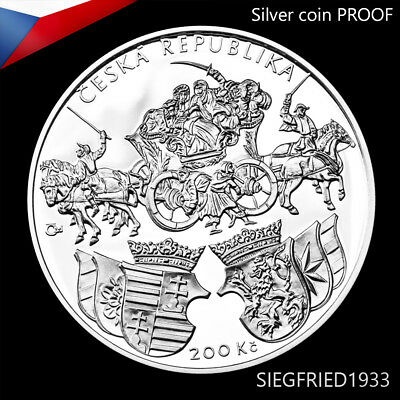 Czech Silver Coin PROOF (2018) - Issuance of the Klaudyán map - 200 CZK