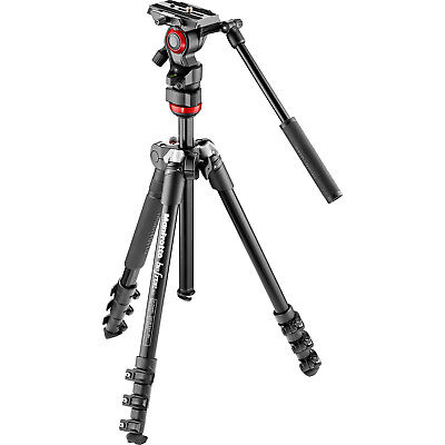 """Manfrotto BeFree 59.4"""" 59.4 Inch Tripod Kit with Live Fluid Video Head & Case"""