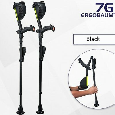 Ergobaum Latest Generation 1 Pair (2 Units) of Ergonomic Crutches (Refurbished)