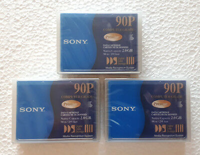 SONY Premium 90P , Data Cartridge, Datenkassette, NEU & OVP, 3 Stück