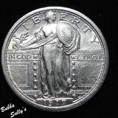 1917 Type I Standing Liberty Quarter <> ABOUT UNCIRCULATED