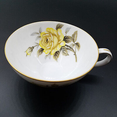 Harmony House Yellow Rose. Made in Japan. Flat Cups.