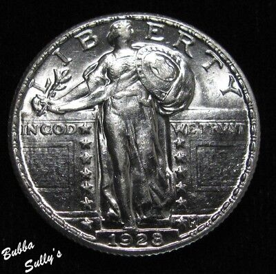 1928 Standing Liberty Quarter <> ABOUT UNCIRCULATED ++